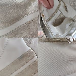 Andrew Marc Bags - Andrew Marc Ivory Leather Hobo Bag